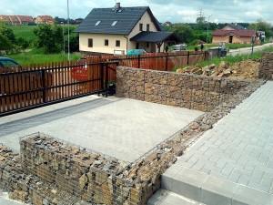 Gabionová zeď W-GARDEN-Realizace zahrad0001