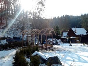 Zahradní domek, parkovací stání překrásná zahrada-W-GARDEN-Realizace zahrad0017