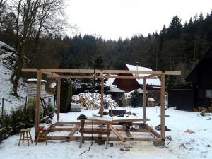 Zahradní domek, parkovací stání překrásná zahrada-W-GARDEN-Realizace zahrad0024